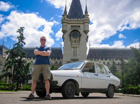 me and the Dacia Iasi Palace of Culture